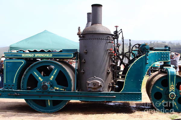 Steam Roller Poster featuring the photograph Steam Powered Roller 7d15116 by Wingsdomain Art and Photography
