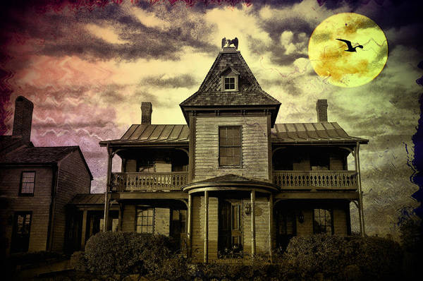 Haunted Poster featuring the photograph The Haunted Mansion by Bill Cannon
