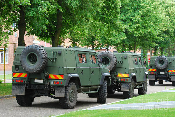4x4 Poster featuring the photograph The Iveco Lmv Of The Belgian Army by Luc De Jaeger