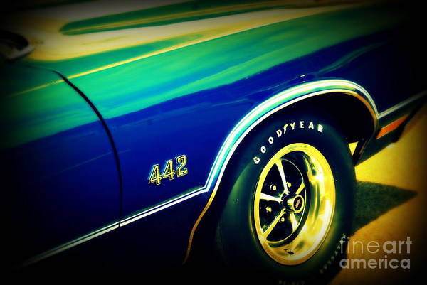 Oldsmobile 442 Poster featuring the photograph The Muscle Car Oldsmobile 442 by Susanne Van Hulst