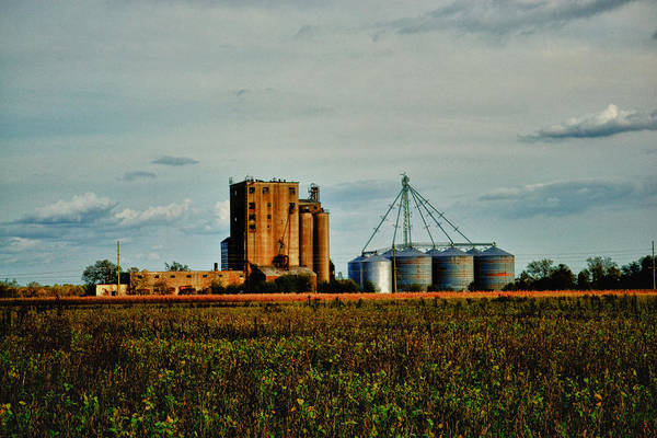 Old Poster featuring the photograph The Old Grain Mill by Kelly Reber