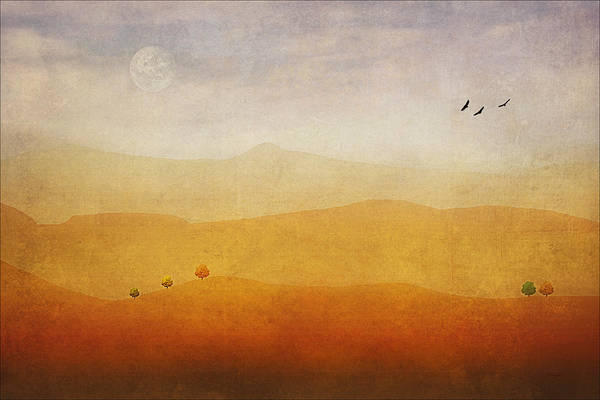 Digital Art Poster featuring the photograph The Rolling Hills by Tom York Images