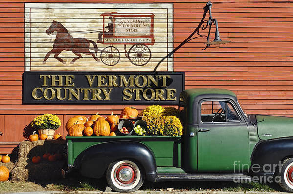 Americana Poster featuring the photograph The Vermont Country Store by John Greim