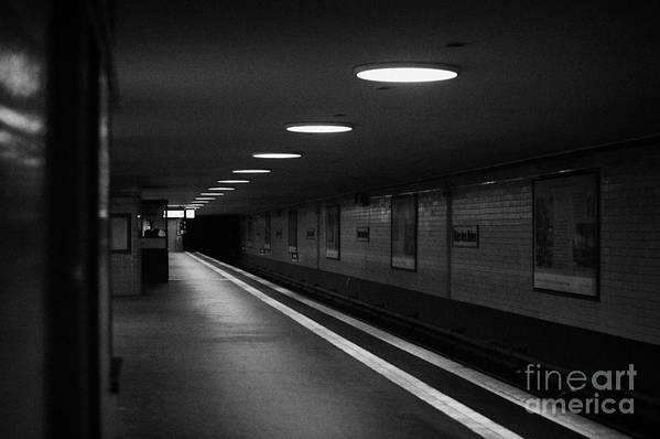 Berlin Poster featuring the photograph Unter Der Linden Ghost Station U-bahn Station Berlin Germany by Joe Fox