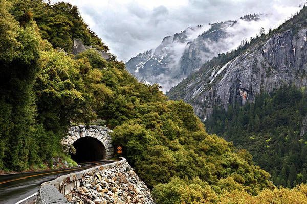 Horizontal Poster featuring the photograph Yosemite Tunnel by Jill Buschlen