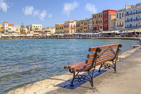 Venetian Harbor Poster featuring the photograph Chania - Crete by Joana Kruse