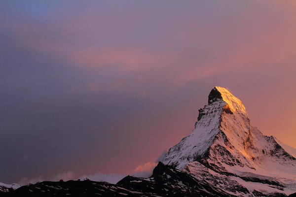 Matterhorn Poster featuring the photograph Matterhorn At Sunset by Jetson Nguyen
