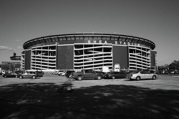 Landmark Poster featuring the photograph Shea Stadium - New York Mets by Frank Romeo