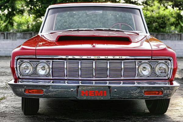 1964 Poster featuring the photograph 1964 Plymouth Savoy Hemi by Gordon Dean II