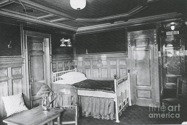 Titanic Poster featuring the photograph Parlour Suite Of Titanic Ship by Photo Researchers