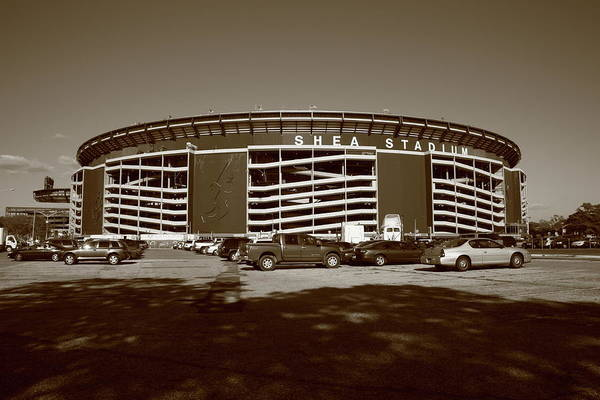Architecture Poster featuring the photograph Shea Stadium - New York Mets by Frank Romeo