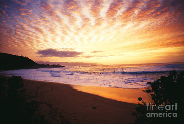 Afternoon Poster featuring the photograph Waimea Bay Sunset by Bob Abraham - Printscapes