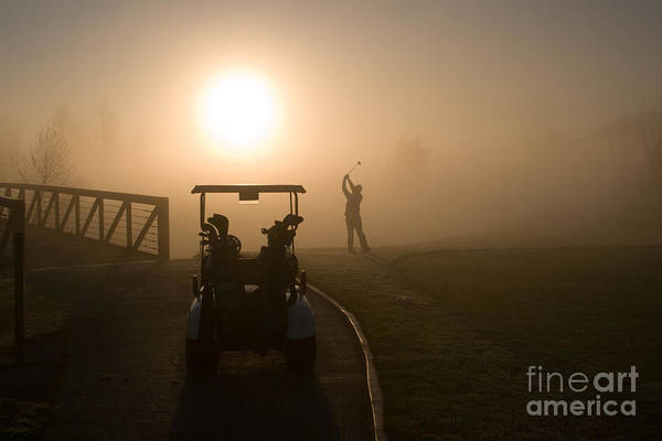 Golf Poster featuring the photograph California Golf Course Sunrise Morning Golfers by ELITE IMAGE photography By Chad McDermott