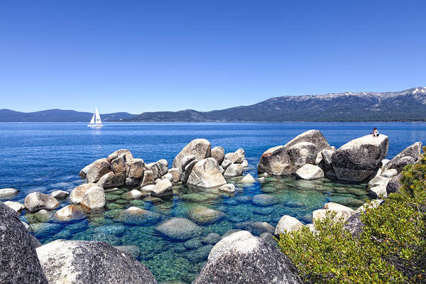 Lake Tahoe Poster featuring the photograph A Day At The Lake by Janet Fikar