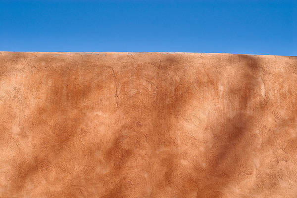 Textural Detail Of An Adobe Wall In Old Santa Fe Poster featuring the photograph Adobe Wall Santa Fe by Steve Gadomski