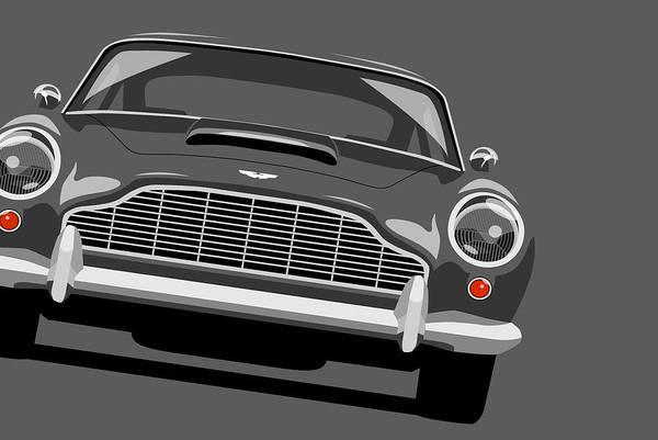 Aston Martin Db5 Poster featuring the digital art Aston Martin Db5 by Michael Tompsett