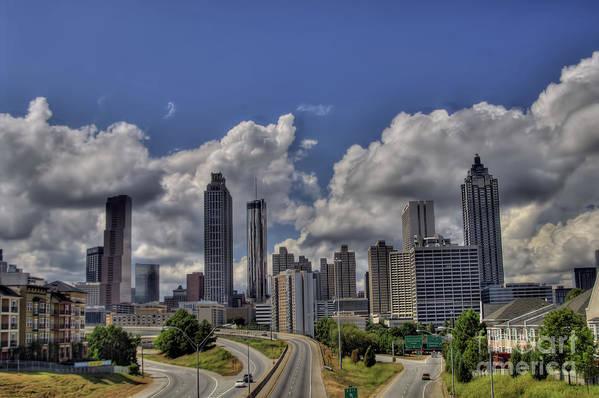 Motorcycle Art Poster featuring the photograph Atlanta Skyline by Corky Willis Atlanta Photography