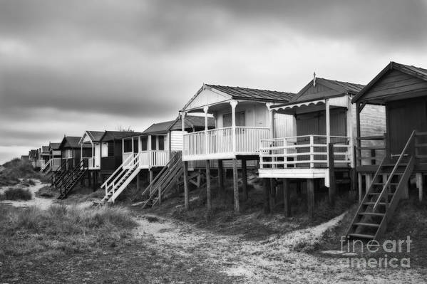 Hut Poster featuring the photograph Beach Huts North Norfolk Uk by John Edwards