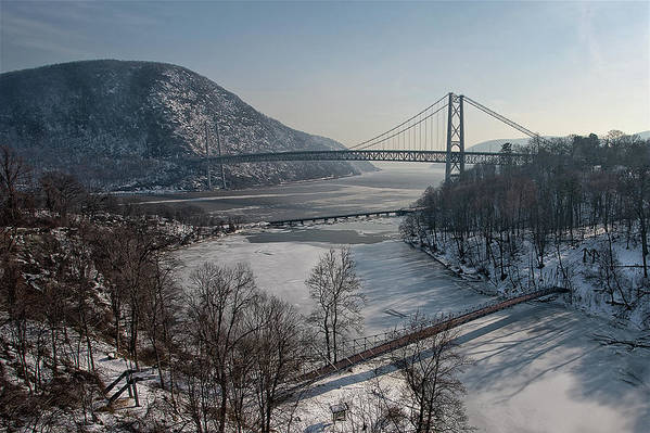 Horizontal Poster featuring the photograph Bear Mountain Bridge by Photosbymo