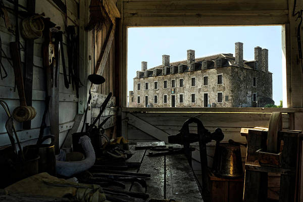 Old Fort Niagara Poster featuring the photograph Blacksmith Shed by Peter Chilelli