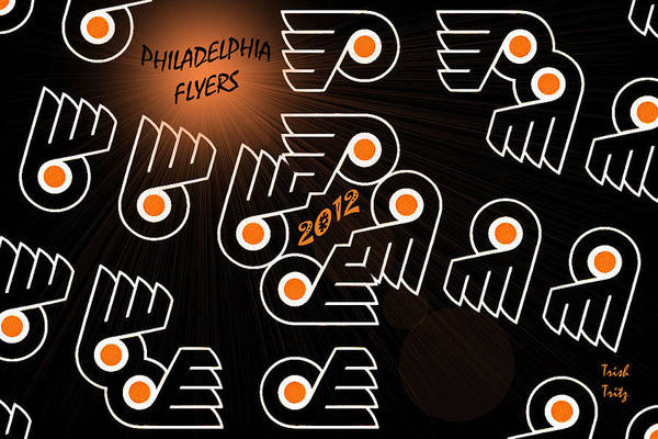 Hockey Poster featuring the photograph Bleeding Orange And Black - Flyers by Trish Tritz