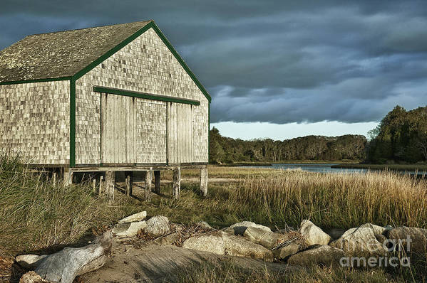 Cape Cod Poster featuring the photograph Boathouse by John Greim