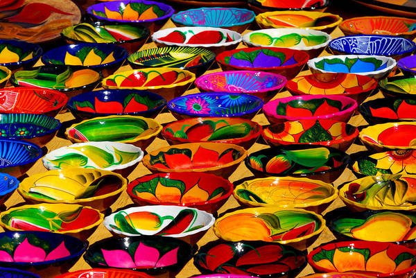 Cabo San Lucas. Colorful Plates. Fine Art Photo Poster featuring the photograph Cabo Art by Craig Incardone