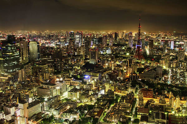 Horizontal Poster featuring the photograph Cityscape At Night by Agustin Rafael C. Reyes