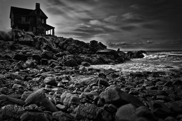 New England Poster featuring the photograph Coastal Home Kennebunkport Maine by Bob Orsillo