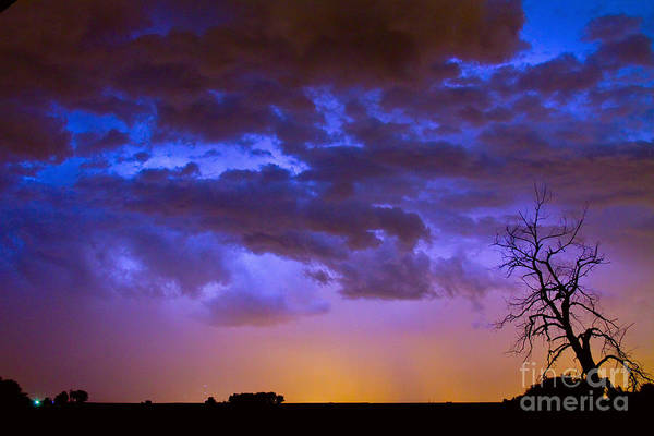Bouldercounty Poster featuring the photograph Colorful Cloud To Cloud Lightning by James BO Insogna