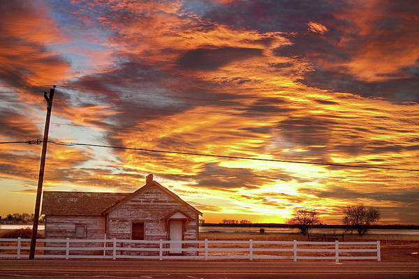 Sunsets Poster featuring the photograph Country House Sunset Longmont Colorado Boulder County by James BO Insogna