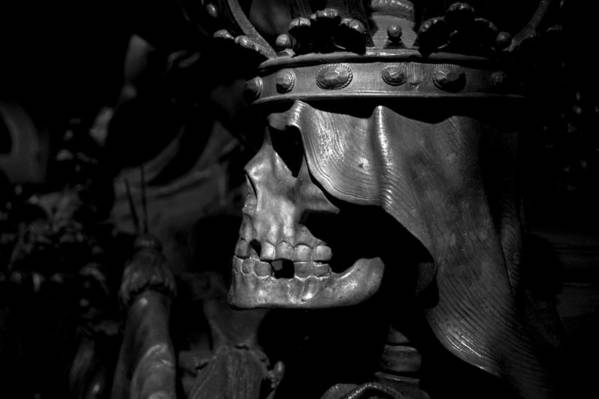 Death Poster featuring the photograph Crowned Death II by Marc Huebner
