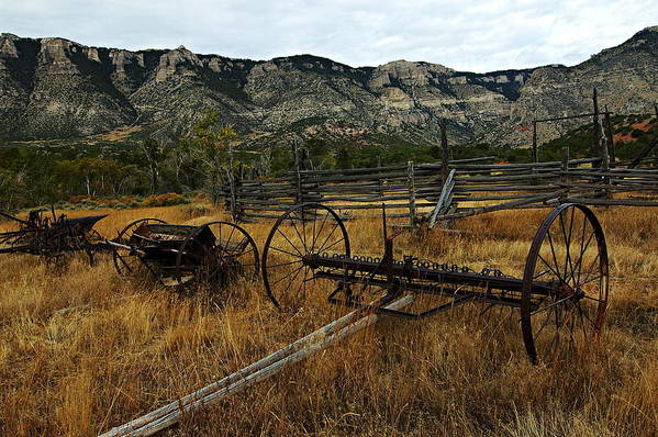 Bighorn Canyon National Recreation Area Poster featuring the photograph Ewing-snell Ranch 4 by Larry Ricker