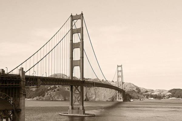 Golden Gate Bridge Poster featuring the photograph Golden Gate Bridge San Francisco - A Thirty-five Million Dollar Steel Harp by Christine Till