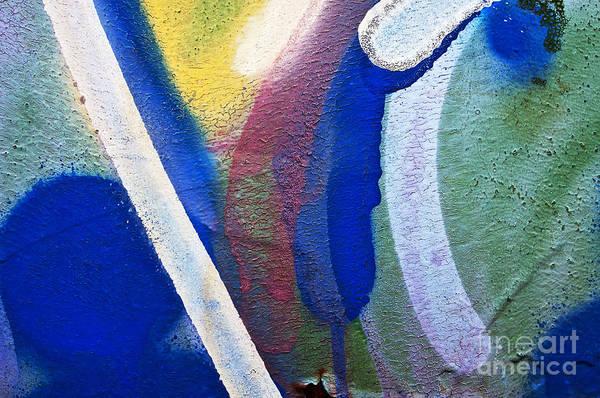 Abstract Poster featuring the photograph Graffiti Texture V by Ray Laskowitz - Printscapes