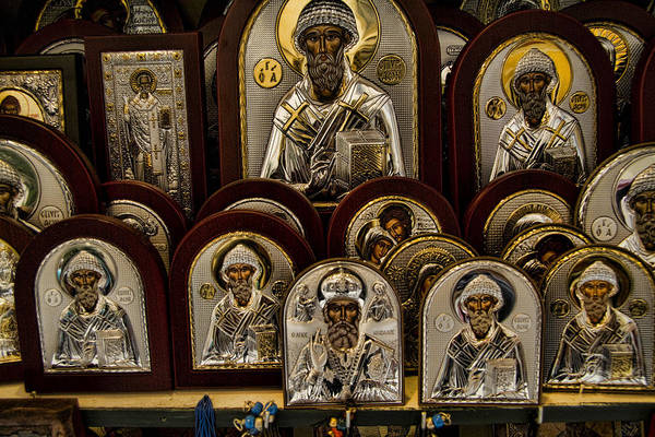 Icons Poster featuring the photograph Greek Orthodox Church Icons by David Smith