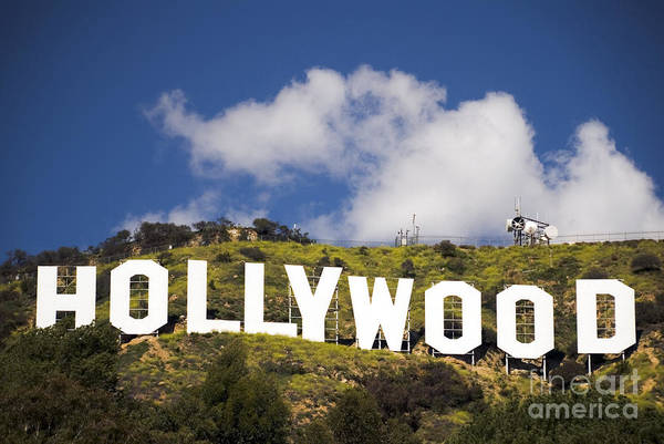 Hollywood Sign Poster featuring the photograph Hollywood Sign by Anthony Citro