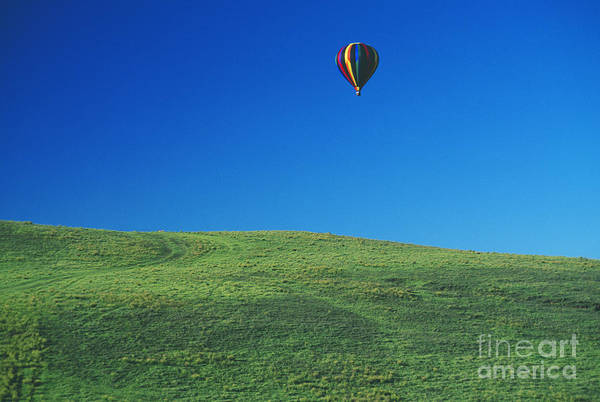 Above Poster featuring the photograph Hot Air Balloon In Hawaii by Peter French - Printscapes