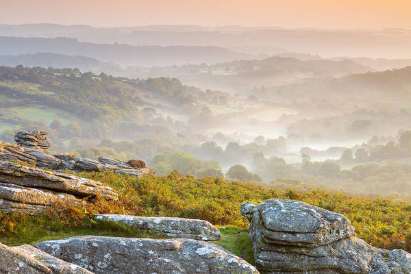 British Poster featuring the photograph Hound Tor by Sebastian Wasek