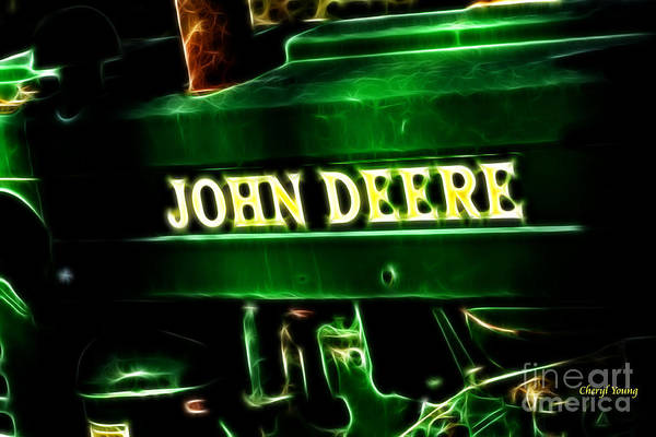 John Deere Poster featuring the photograph John Deere 2 by Cheryl Young