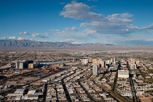 Las Vegas Poster featuring the photograph Looking Over Downtown by Andy Smy