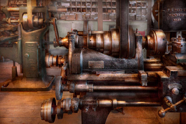 Machinist Poster featuring the photograph Machinist - Steampunk - 5 Speed Semi Automatic by Mike Savad