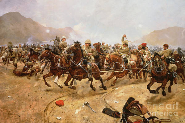 Maiwand 1880: Saving The Guns Poster featuring the painting Maiwand by Richard Caton II Woodville