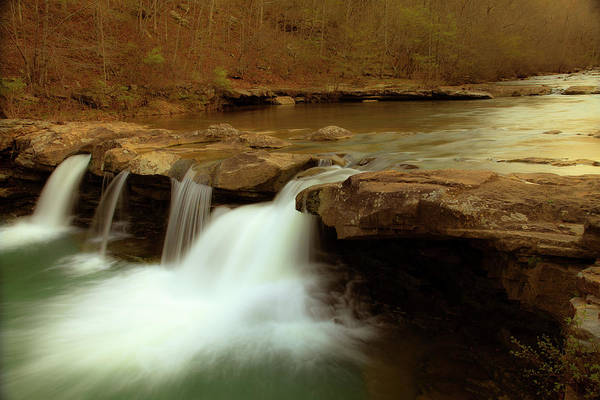 Landscape Poster featuring the photograph Mystical King River Falls by Iris Greenwell