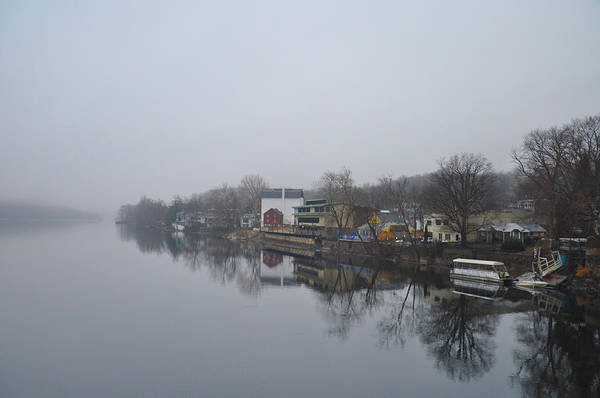 New Poster featuring the photograph New Hope River View On A Misty Day by Bill Cannon