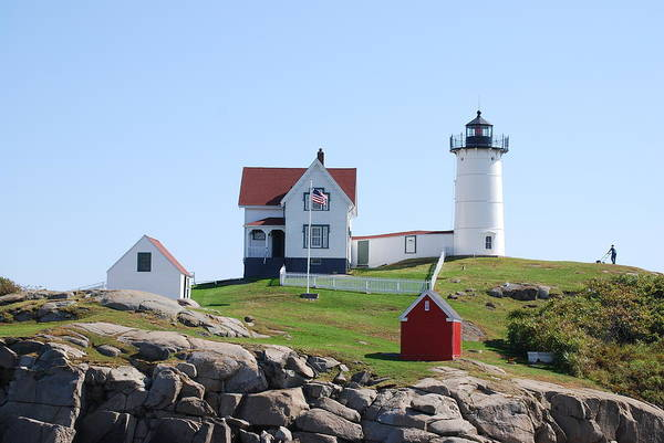 Lighthouse Poster featuring the photograph Nubble Light by Armand Hebert