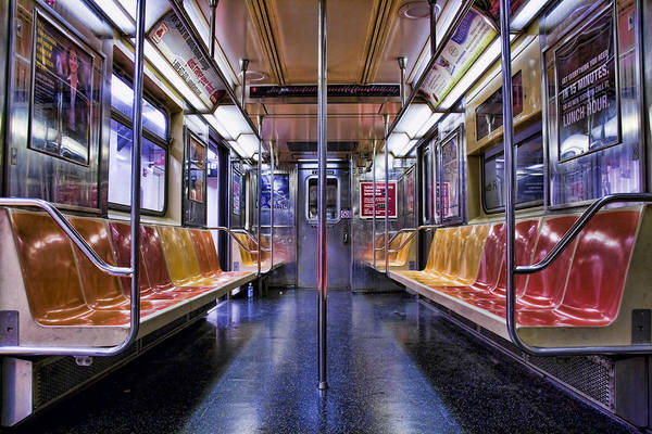 Subway Poster featuring the photograph Nyc Subway by Kelley King