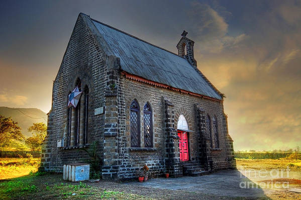Old Church Poster featuring the photograph Old Church by Charuhas Images