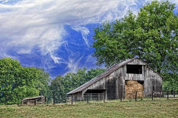 Landscapes Poster featuring the photograph Old Hay Barn by Jan Amiss Photography