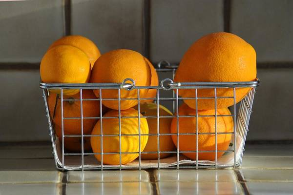 Still Life Poster featuring the photograph Orangey by Dan Holm